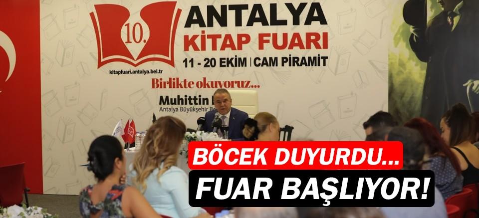 10. Antalya Kitap Fuarı, 11 Ekim'de açılıyor!