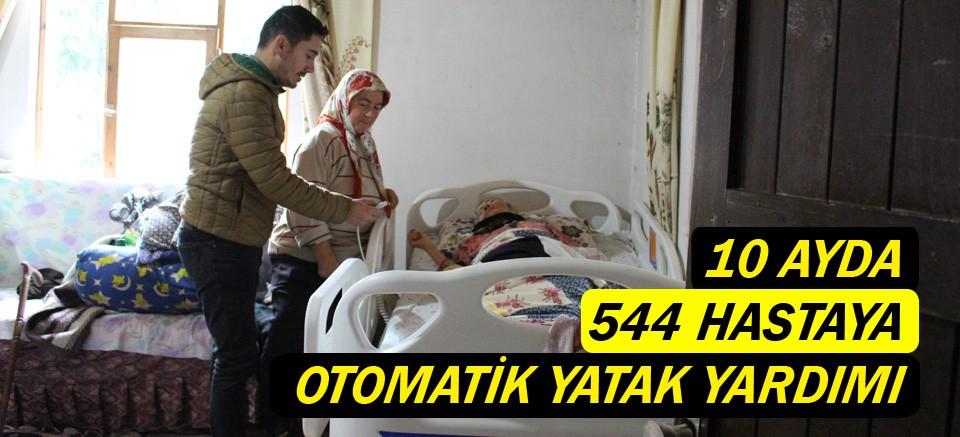 10 ayda 544 hastaya otomatik yatak yardımı