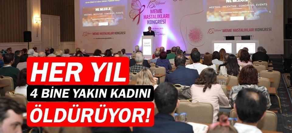 15. Ulusal Meme Hastalıkları Kongresi Antalya'da başladı