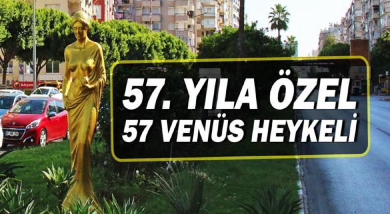 57'nci yıla özel 57 venüs heykeli!