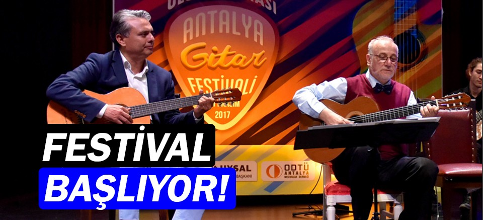 8'inci Uluslararası Antalya Gitar Festivali başlıyor!