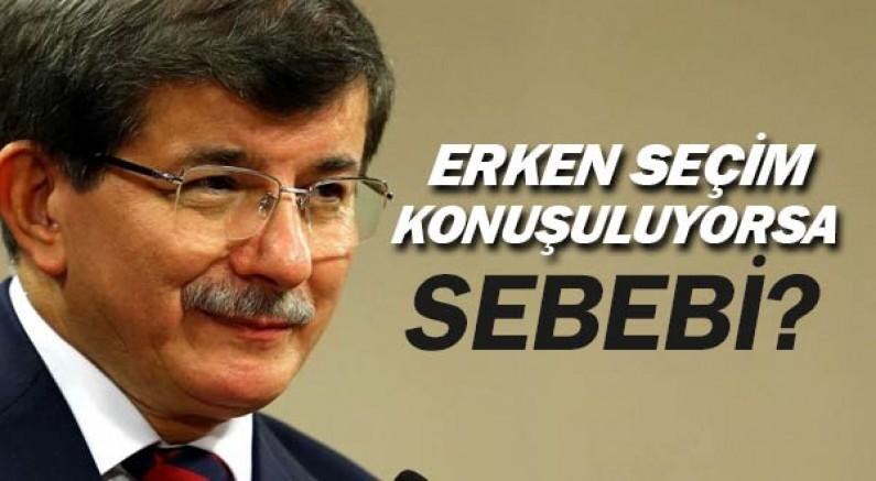 Ahmet Davutoğlu erken seçim söylentisinin nedeni söyledi.