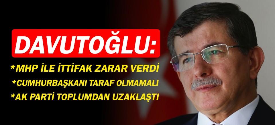 Ahmet Davutoğlu'ndan çarpıcı açıklamalar!