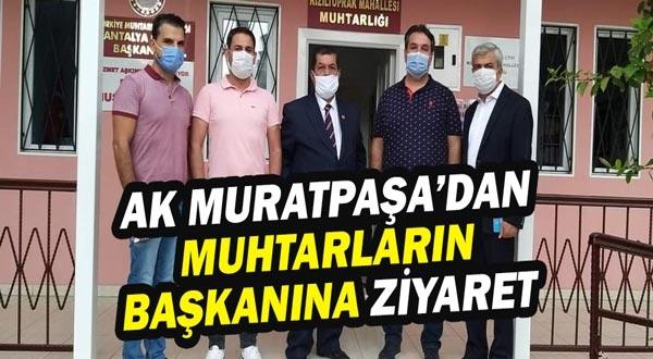 AK Parti Muratpaşa'dan muhtarların başkanına ziyaret.