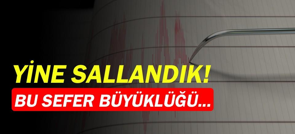 Akdeniz beşik gibi sallanıyor! 4.0 büyüklüğünde deprem!