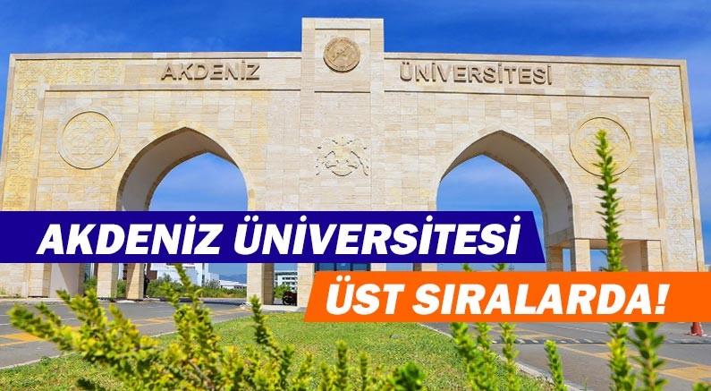 Akdeniz Üniversitesi Akademisyenlerin Gözünden Üniversiteler Araştırmasında sekizinci oldu!