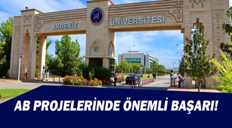 Akdeniz Üniversitesi'nden AB Projelerinde Önemli Başarı