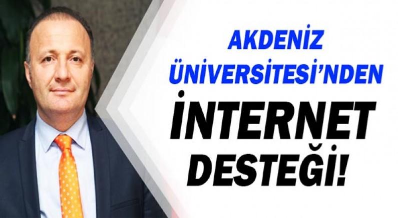 Akdeniz Üniversitesi'nden Öğrencilerine İnternet Desteği