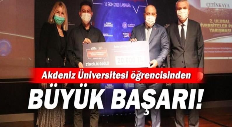 Akdeniz Üniversitesi Öğrencisinden Büyük Başarı!