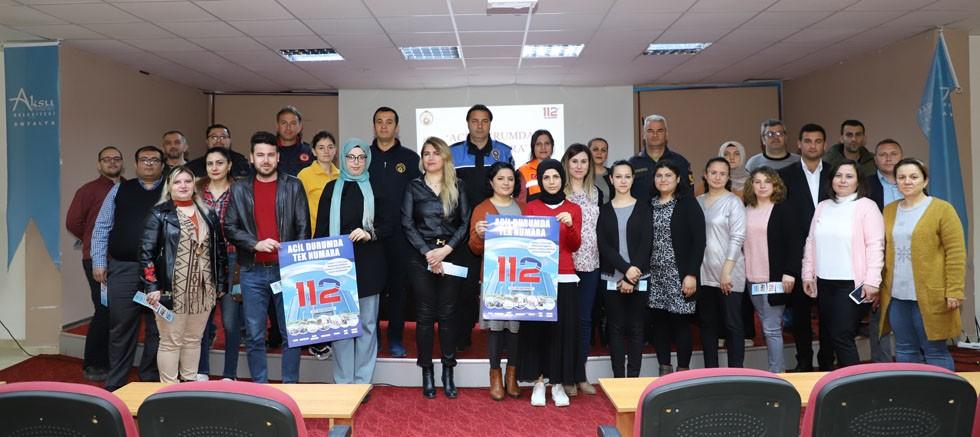 Aksu Belediyesi'nde 112 anlatıldı