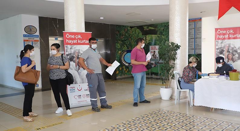 Aksu Belediyesi'nde kök hücre bağış kampanyası