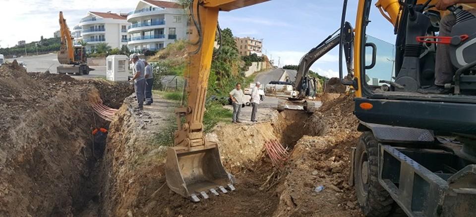 Alanya ASAT, kanalizasyon hattını yeniledi