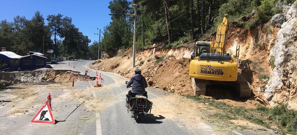 Alanya Gedevet yolu güvenli hale getirildi