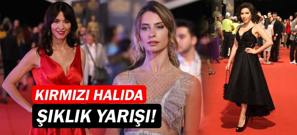 Altın Portakal Film Festivali'nde ünlülerden şıklık yarışı...