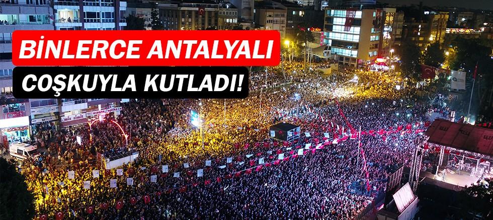 Antalya 19 Mayıs'ı büyük coşku ve heyecanla kutladı