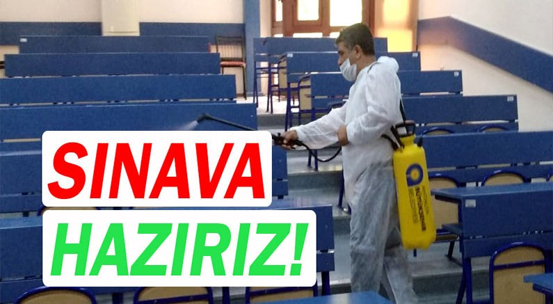 Antalya Büyükşehir Belediyesi sınavlar öncesi okulları dezenfekte etti.