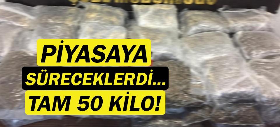 Antalya'da 50 kilo uyuşturucu madde ele geçirildi!