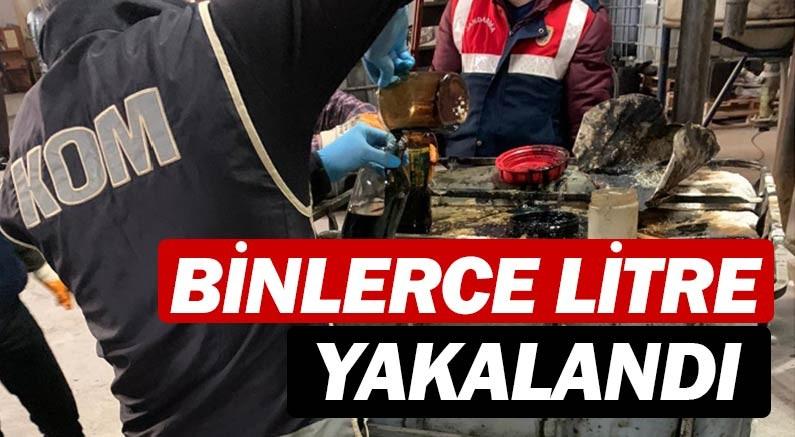Antalya'da 94.500 litre kaçak akaryakıt ürünü ele geçirildi.