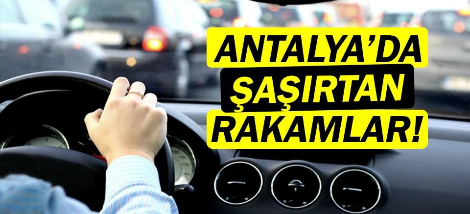 Antalya'da araç sayısı 1 milyon 95 bin 556 oldu!
