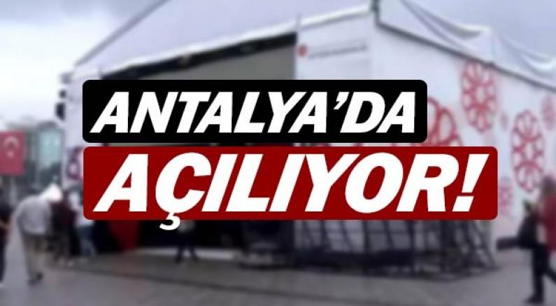 Antalya'da Dijital Gösterim Merkezi açılıyor.