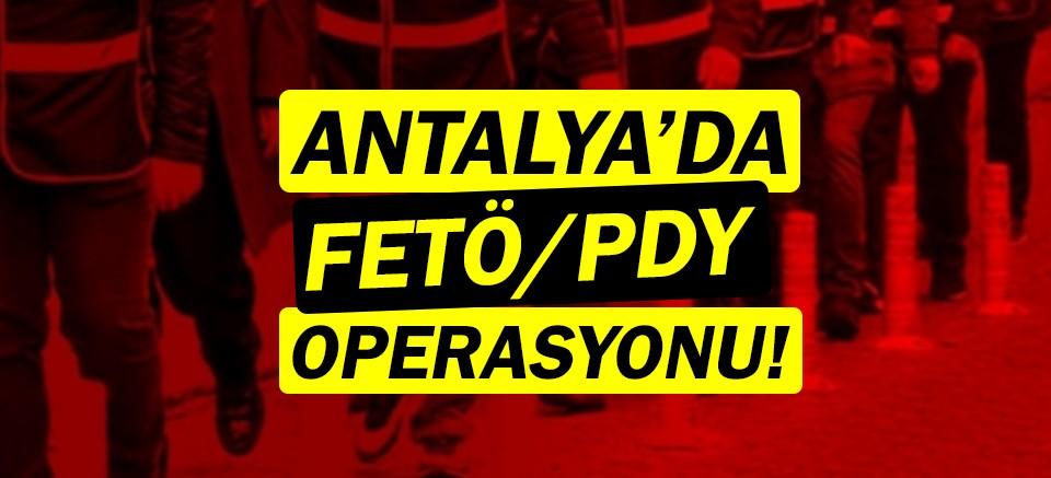 Antalya'da FETÖ/PDY hücre evlerine baskın!