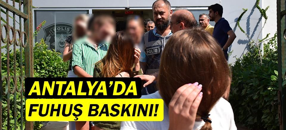Antalya'da fuhuş baskını! Çok sayıda iş yeri kapatıldı!