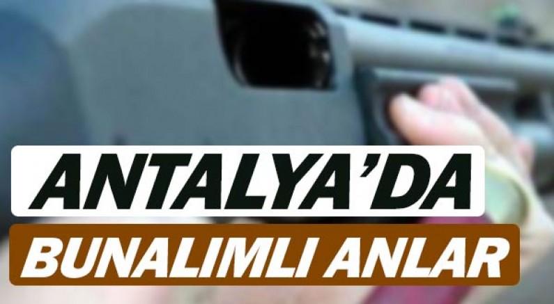 Antalya'da korkutan anlar, bunalımlı anlar.