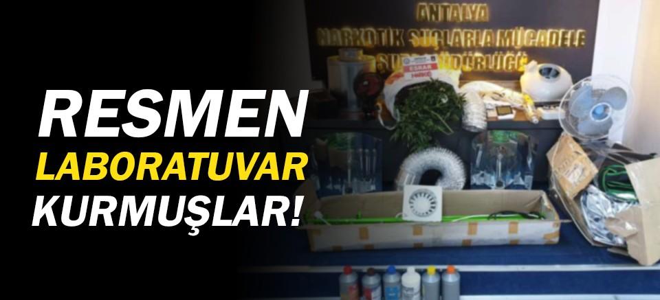 Antalya'da laboratuvar baskını! 3 uyuşturucu taciri yakalandı!