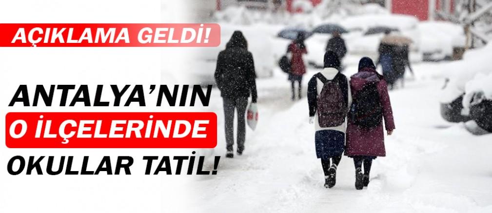 Antalya'da okullar tatil!