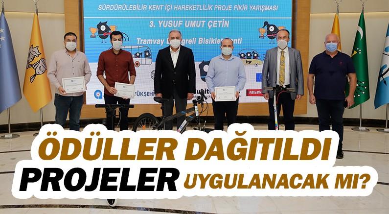 Antalya'da projelere ödül dağıtıldı, projeler yapılacak mı sorusu soruldu.