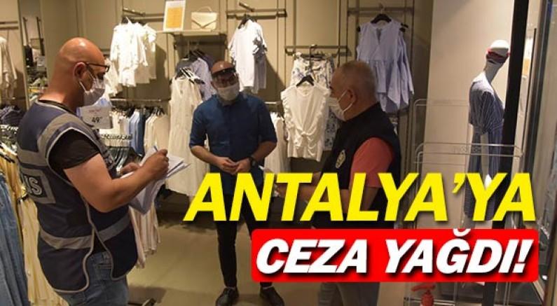 Antalya'da resmen ceza yağdı.