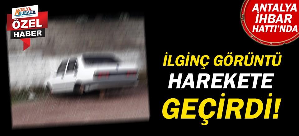 Antalya'da terkedilmiş araç tehlike saçıyor!
