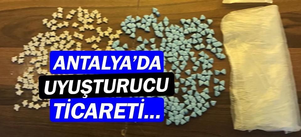 Antalya'da uyuşturucu tacirine polis baskını!