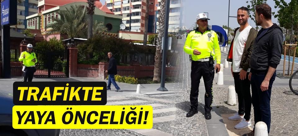 Antalya Emniyet Teşkilatı'ndan Yaya Öncelikli Trafik Uygulaması