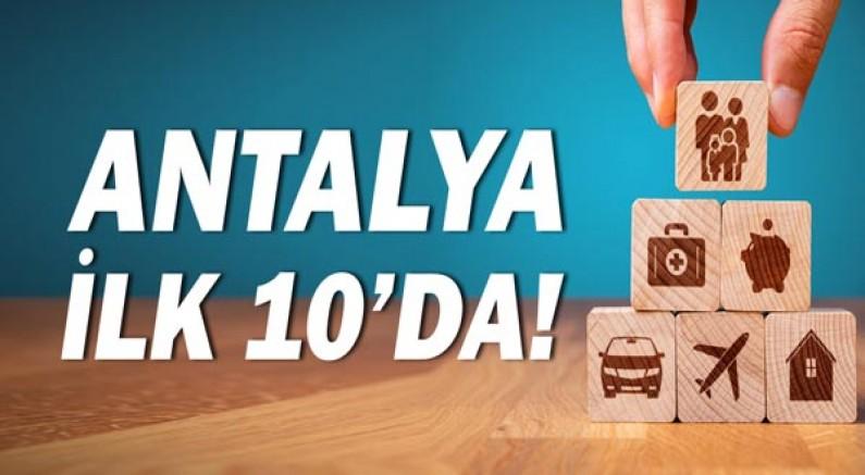 Antalya ilk 10'da yer aldı!
