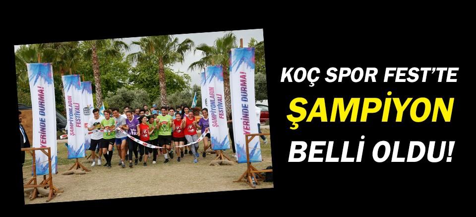Antalya Koç Spor Fest'te şampiyonlar belli oldu!