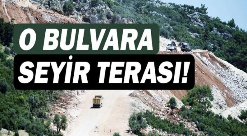 Antalya manzaralı bulvara seyir terası
