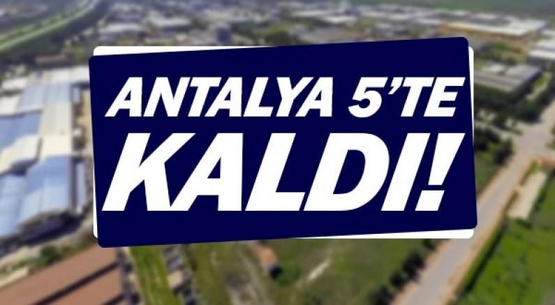Antalya'nın listede sayısı 5'e düştü.