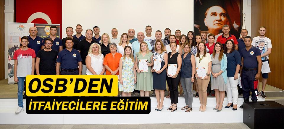 Antalya OSB'den itfaiyecilere eğitim!