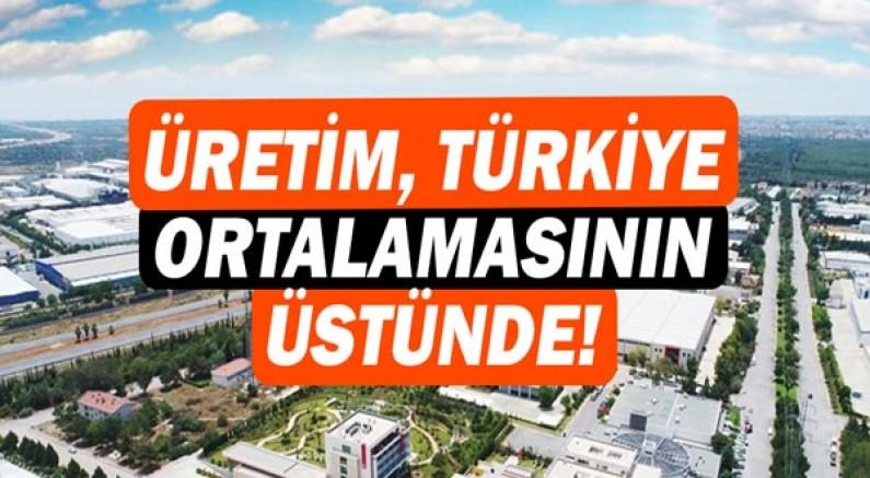 Antalya OSB'nin üretimi, Türkiye ortalamasının üstünde arttı!