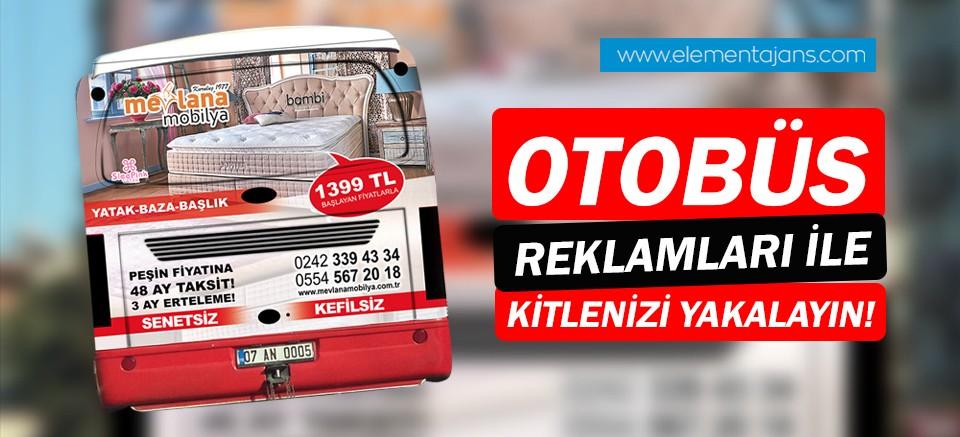 Antalya otobüs reklamlarında Element Ajans farkı!