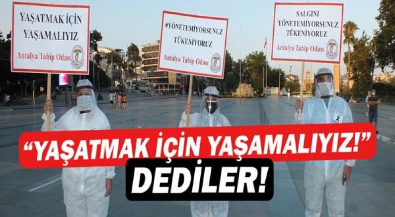 Antalya Tabip Odası #YönetemiyorsunuzTükeniyoruz dedi!