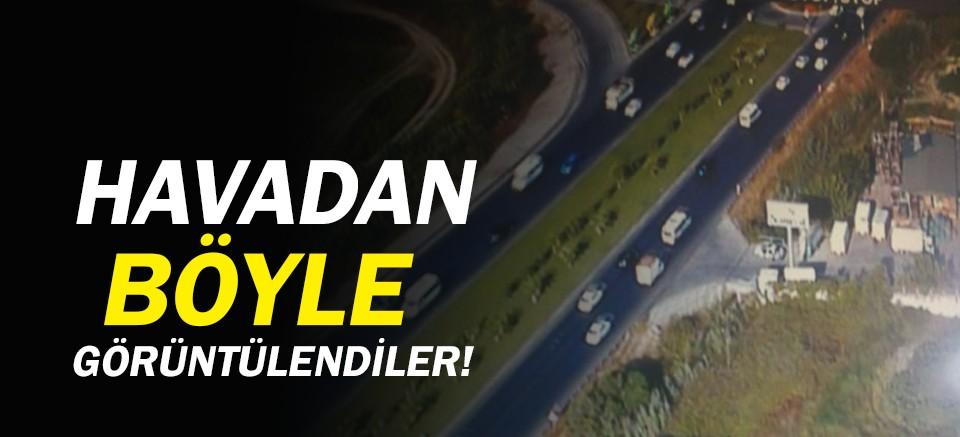 Antalya trafiği havadan denetlendi!