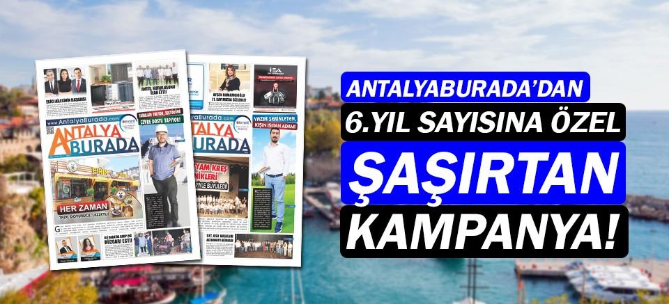 AntalyaBurada'dan 6. Yıla özel kampanya!