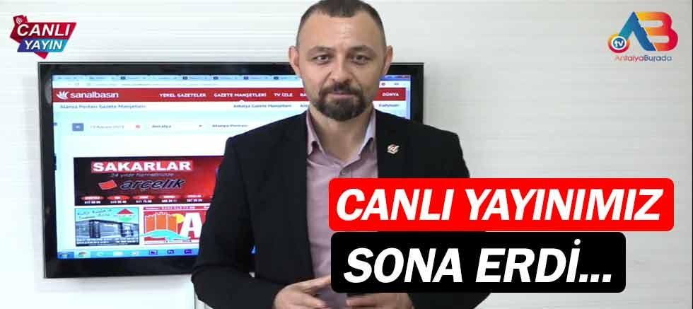 AntalyaBurada TV canlı yayını sona erdi...
