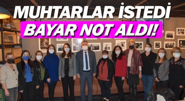 Antalyalı Kadın Muhtarlara destek sözü...