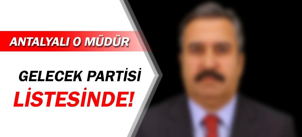 Antalyalı müdür Mevlüt Demir, Davutoğlu'nun partisinde!