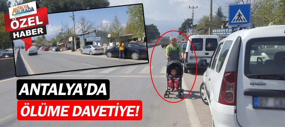 Antalyalı vatandaşlar kaldırımsız yolda ölümle burun buruna!