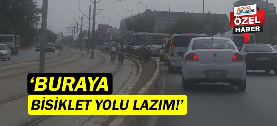 Antalyalılar, Aspendos Bulvarı'na bisiklet yolu istiyor!