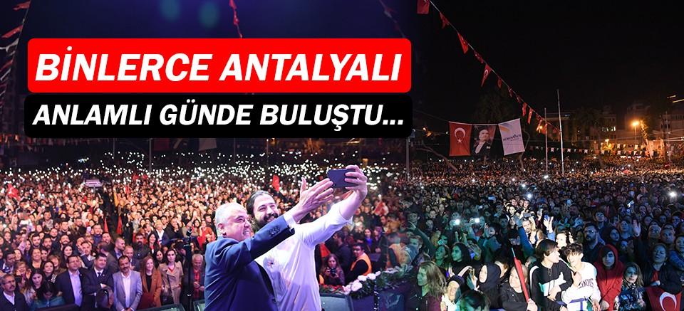 Antalyalılar, Atatürk için buluştu